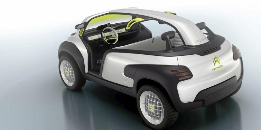 Citroën har begynt å lage morsomme biler igjen. Konseptbilen Lacoste bekrefter at det er lov å leke igjen. Foto: Citroën Citroën