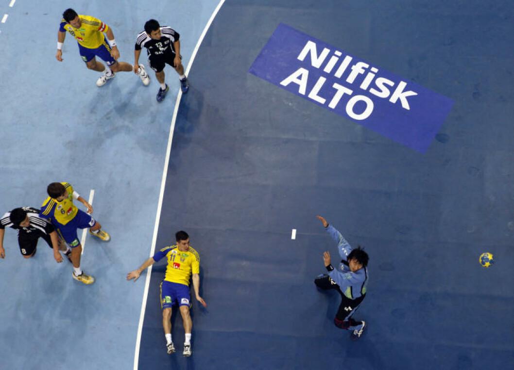 Svenske Dalibor Doder mot Sør-Korea. Foto: REUTERS/Umit Bektas