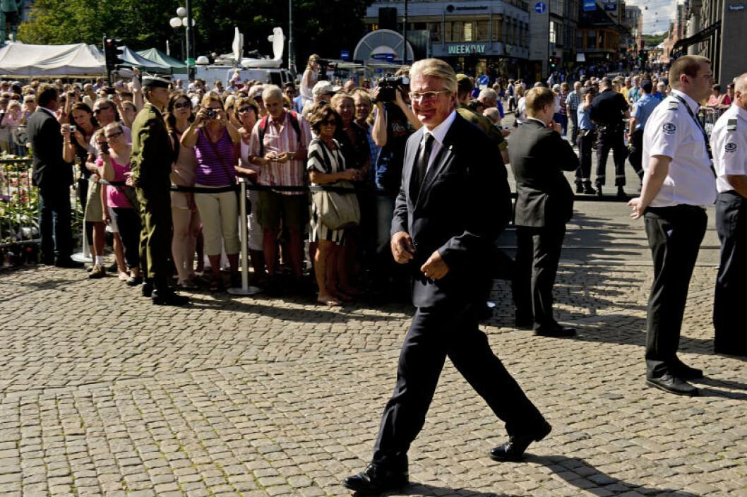 <strong>DELTOK:</strong> Oslos Fabian Stang var blant flere politikere som deltok på minnemarkeringen. Foto: Øistein Norum Monsen / Dagbladet