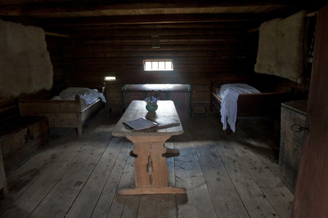 <strong>HERBERGET:</strong> Her kan folk på pilegrimsvandring sove på på landets eneste bevarte middelalderherberge. Foto: John Terje Pedersen/Dagbladet