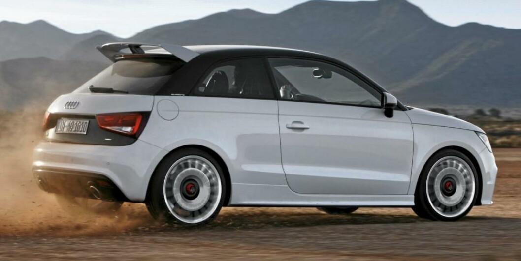 <strong>BEGRENSET:</strong> Audi A1 quatrro skal bare produseres i 333 eksemplarer. Foto: Audi