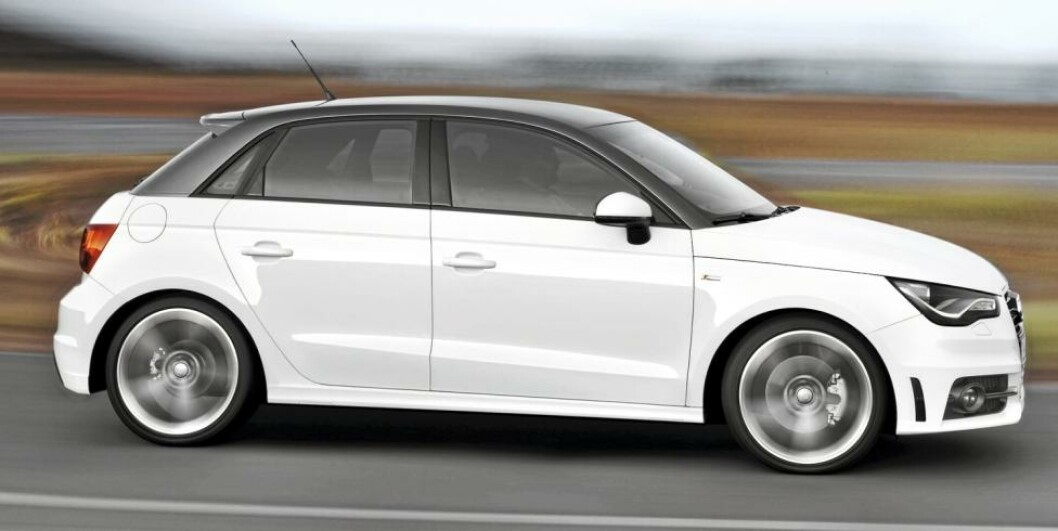 <strong>FEM:</strong> Audi A1 Sportsback med fem dører. Foto: Audi