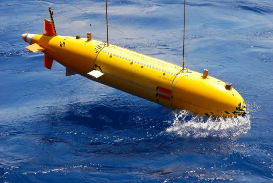 <strong>ROV:</strong> Undervannsroboten Autosub6000 ble brukt til å finne de undersjøiske ventilene. Foto: University of Southampton/NOC