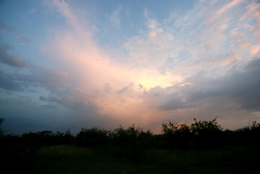 <strong>HIMMELSK LYS:</strong> Fantastiske farger på nattehimmelen.