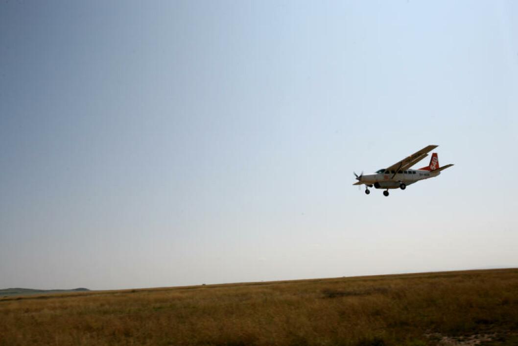 <strong>FLYTRANSPORT:</strong> Det kan være smart å fly inn med småfly for å ikke miste safaritid.