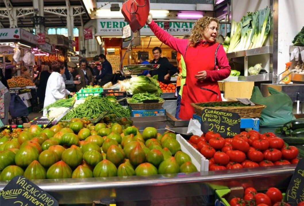 GODT UTVALG: Markedet i Valencia: Mercado Central. Foto: MORTEN STOKKAN