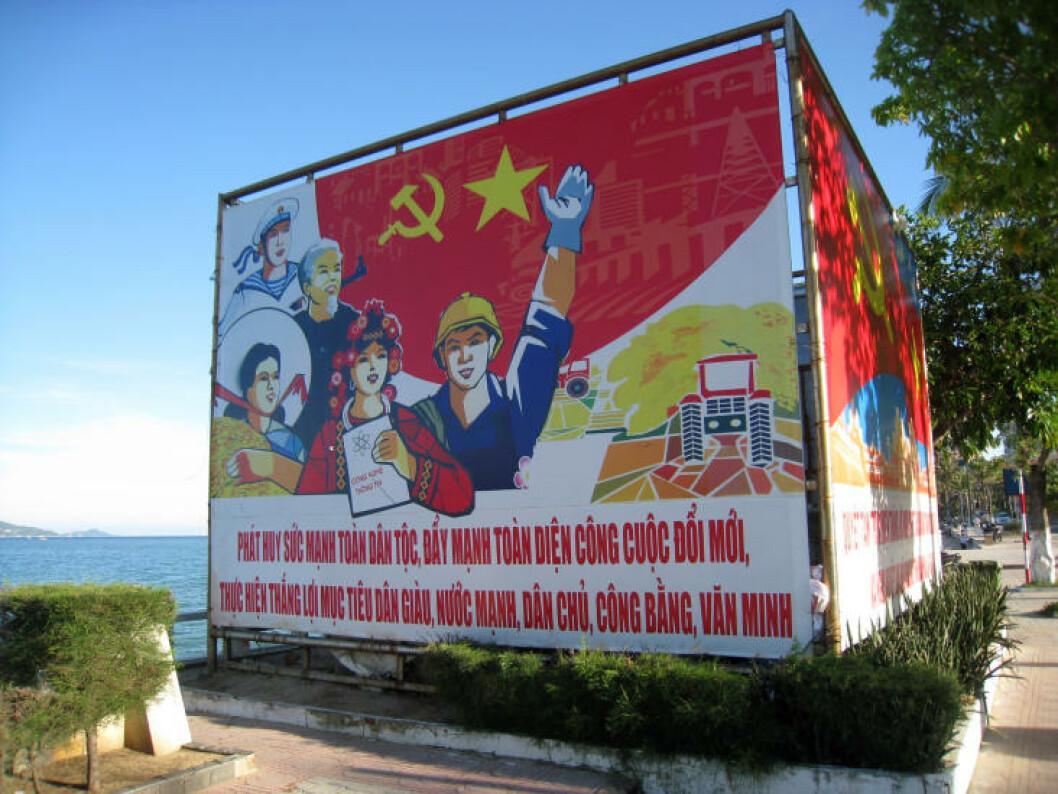 TRADISJONEN TRO: Det synes at Vietnam fortsatt er et kommunistisk styrt land.  Foto: TORMOD BRENNA