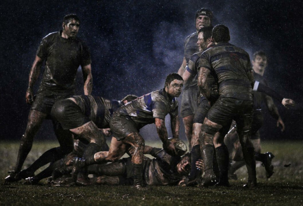 <strong>RUGBY:</strong> En rugbykamp mellom ved Anglesea Road i Irland. Foto: World Press Photo / Ray McManus