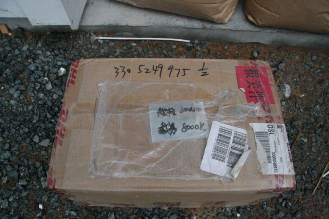 IMPORTERES:  Ingrediensene som brukes til å lage dopingpreparatene importeres fra Asia