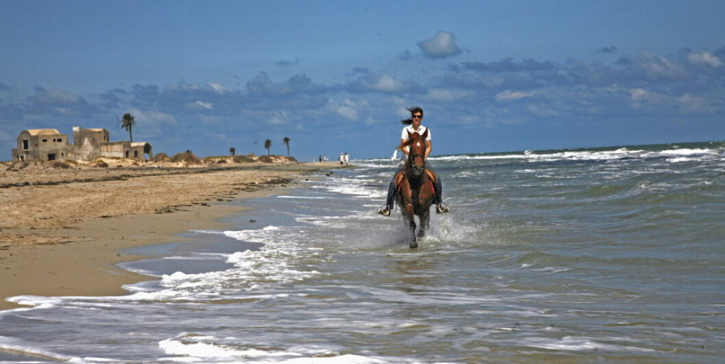 <strong> TUNISIA:</strong>  Strandliv på hesteryggen i Sousse. Foto: EIVIND PEDERSEN