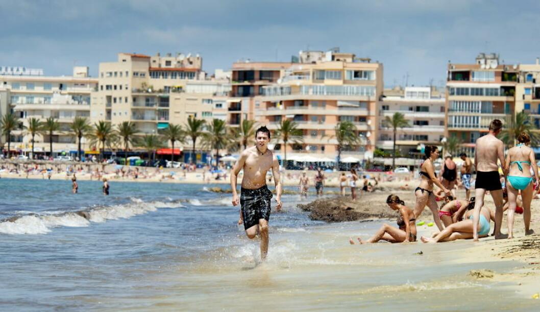 <strong>SPANIA:</strong>  Playa Palma på Mallorca  er full av nordmenn om sommeren. Foto: JOHN TERJE PEDERSEN
