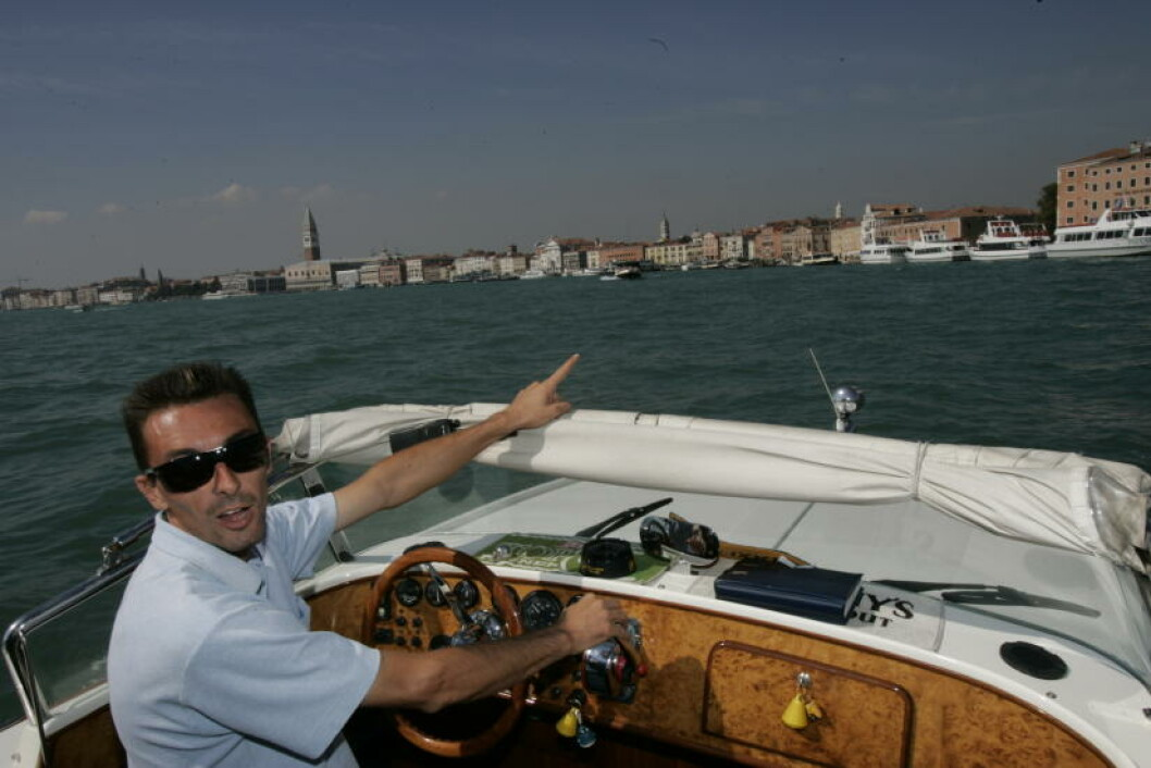 <strong>ITALIA:</strong>  På vei med taxibåt til Venezias Lido. Foto: GEIR BØLSTAD