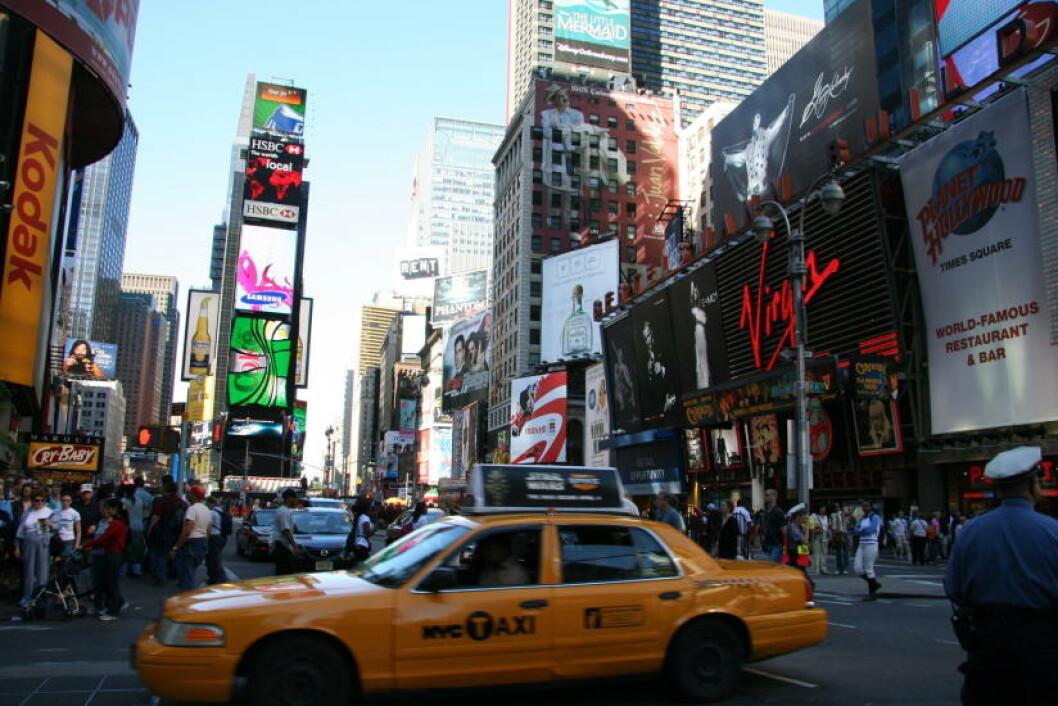 <strong> NEW YORK:</strong>  På Manhattan er det alltid hektisk.  Foto: KIRSTEN MARGRETHE BUZZI