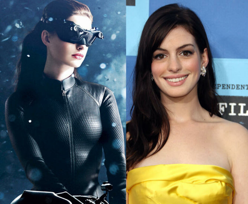 <strong>ANNE HATHAWAY:</strong> I «The dark knight rises». Foto: Filmweb og Stella Pictures