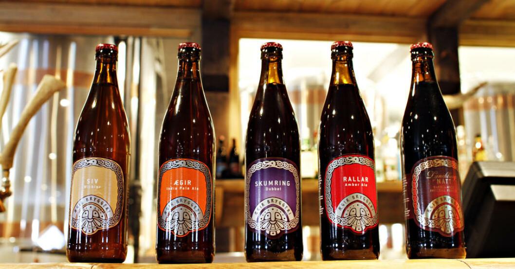 <strong>FEM:</strong> Ægir ølsorter til ølmenyen.Foto: OLE C.H. THOMASSEN