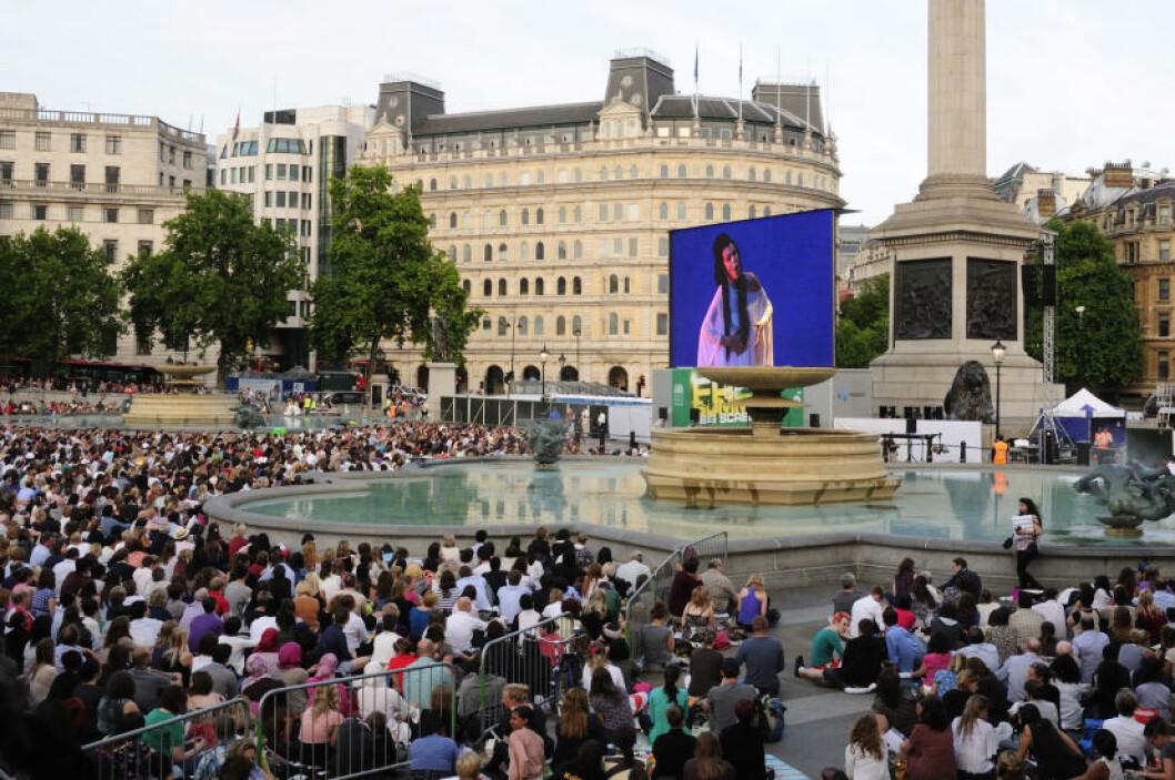 <strong>POPULÆRT:</strong> «Madam Butterfly» på storskjerm. Forestillinger fra Royal Opera House overført på storskjerm er et ettertraktet gratistilbud. Foto: MARIANNE WIE