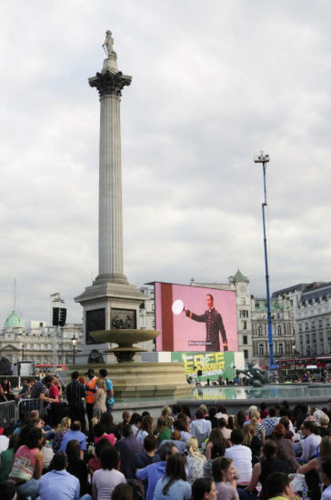 <strong>GRATIS PÅ TRAFALGAR SQUARE:</strong> Forestillinger fra Royal Opera House overført på storskjerm er et ettertraktet gratistilbud. Foto: MARIANNE WIE