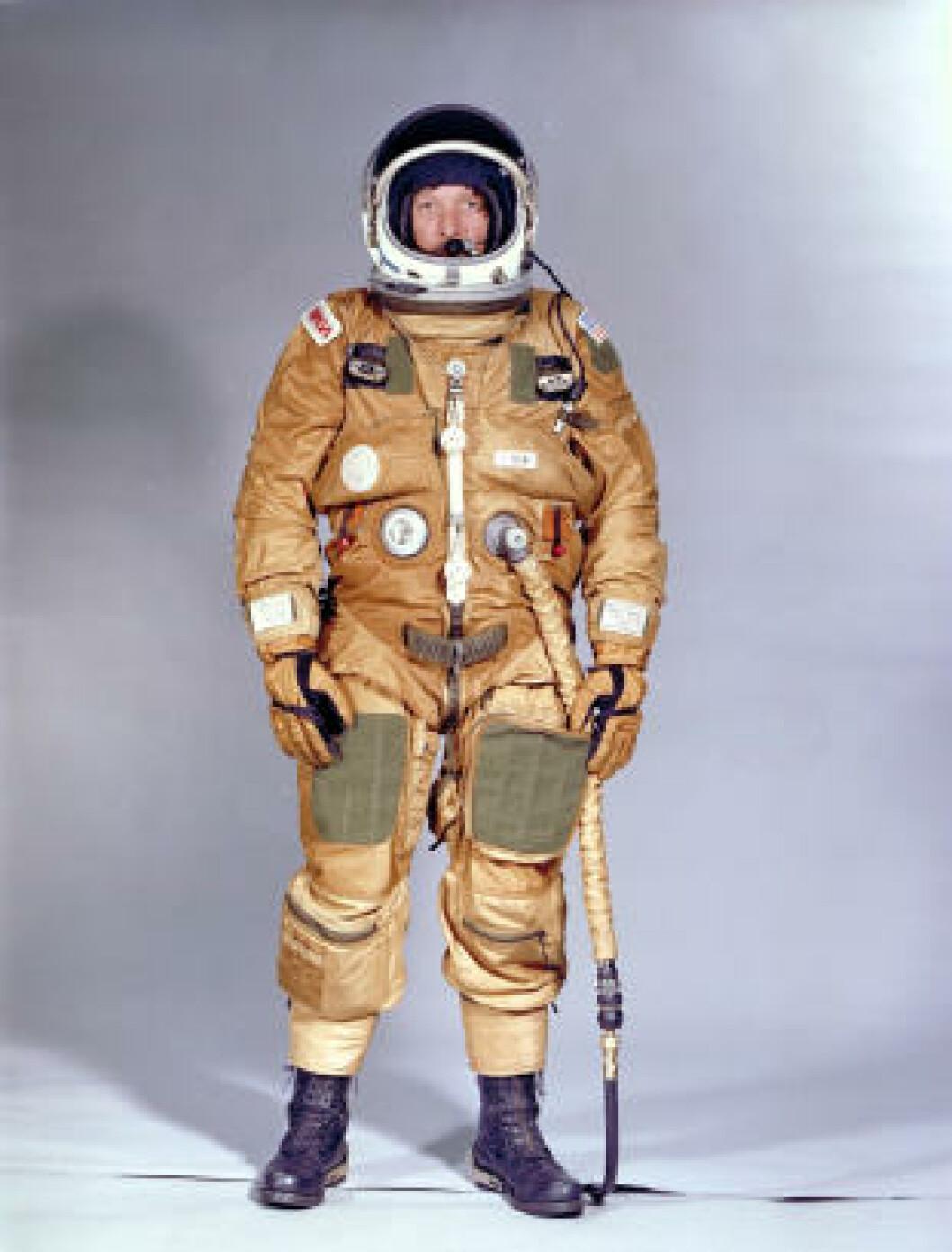<strong>MODIFISERT:</strong> Romdrakt fra 1981. Foto: NASA