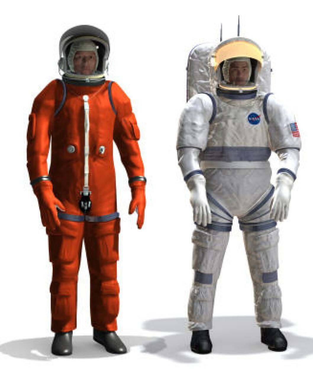 <strong>FRAMTIDA:</strong> NASA planlegger å sende astronauter til månen i 2020. Dette er et eksempel på hvordan framtidas drakter kan se ut. Foto: NASA