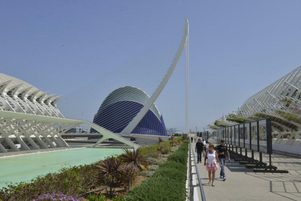 <strong>MODERNISTISK LEKEGRIND:</strong> Andre spanske byer bygde ett modernistisk signalbygg på 1990-tallet. I Valencia bygde de en hel bydel, med det tidligere elveløpet til Turia som boltreplass. Foto: GJERMUND GLESNES
