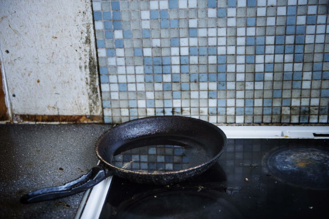 <strong>KJØKKENET:</strong> Det var to «kjøkken» i den ombygde etasjen. Foto: Benjamin A. Ward / Dagbladet