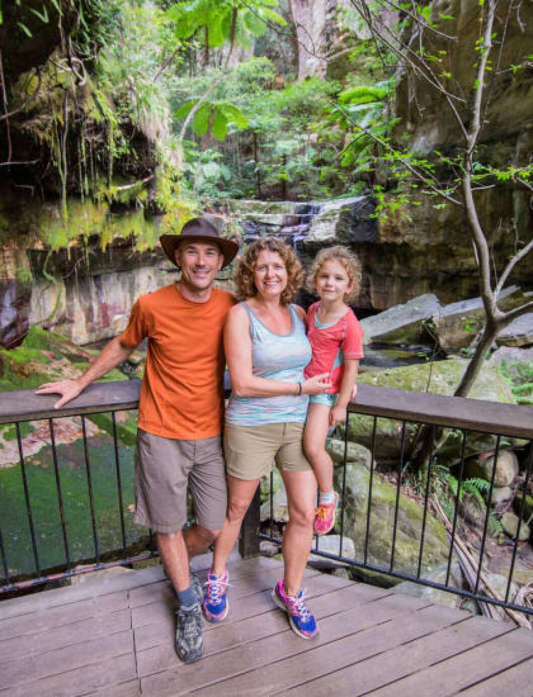 <strong>PÅ TUR:</strong> Andrew Paice er på familietur med kona Nikki og datteren Madison (9). Foto: Andrew Paice/Getty Images