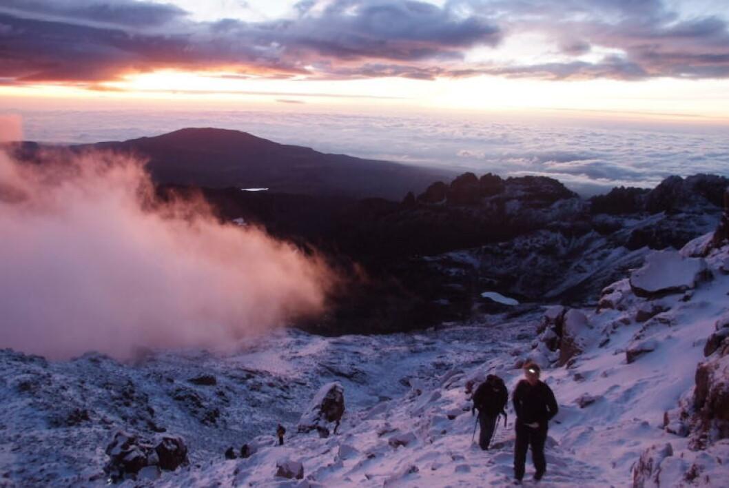 <strong>I MØRKET:</strong> Toppturen starter i stummende mørke klokka 03.00 for at du skal nå soloppgangen på toppen. Foto: TORILD MOLAND