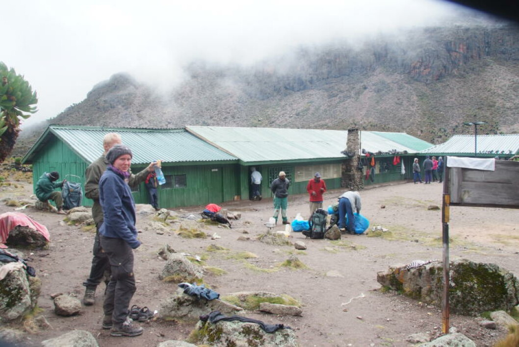 <strong>BASECAMP:</strong> Shipton's Camp på 4200 meter er siste stopp før selve toppen bestiges i otta. Foto: RONNY FRIMANN