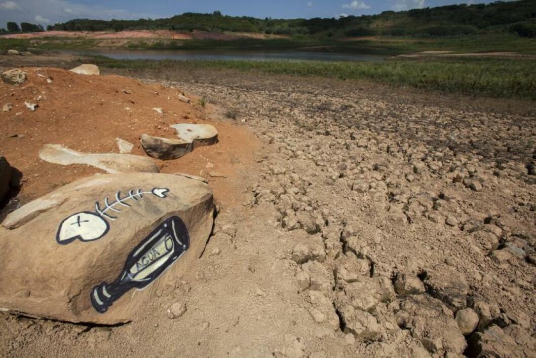 <strong>TØRKE:</strong> Brasil opplever tørke og myndighetene uttrykker bekymring. Tørken omtales som den verste i landet på 80 år. Foto: EPA/SEBASTIAO MOREIRA