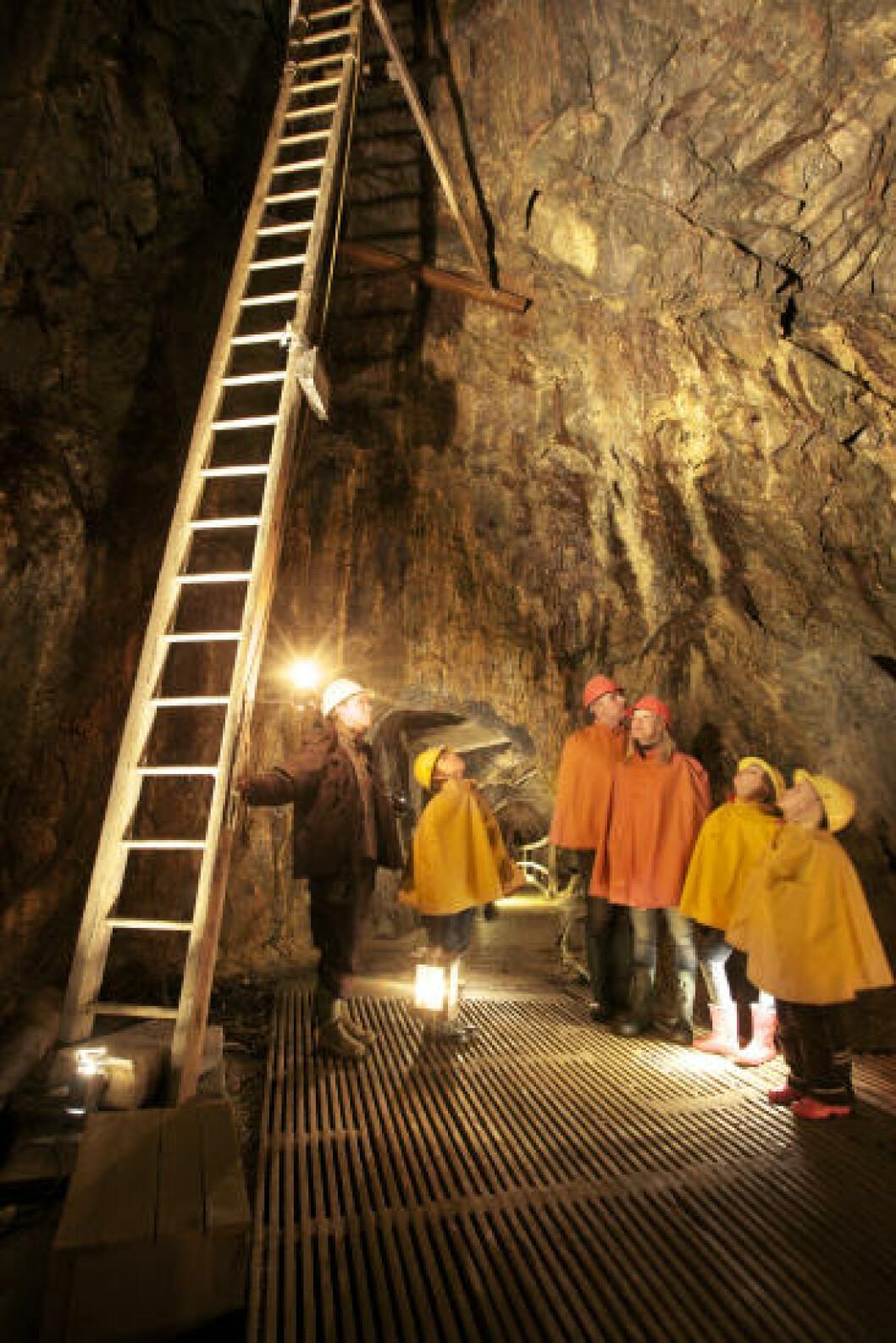 <strong>KOPPARBERGET:</strong> Gruvedriften like utenfor sentrum gjorde i sin tid Falun til Sveriges nest største by. I dag er gruvene museum - og verdensarvsted. Foto: VISIT SÖDRA DALARNA