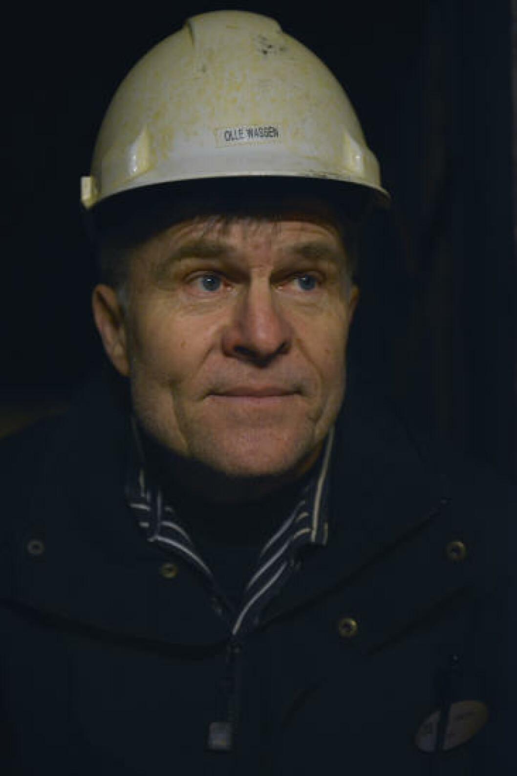 <strong>I HISTORISK GRUNN:</strong> Olle Wassén guider turister ned til 67 meters dyp i Falu gruva, men ikke under VM. Da skal han jobbe frivillig i dopingkontrollen. Foto: GJERMUND GLESNES