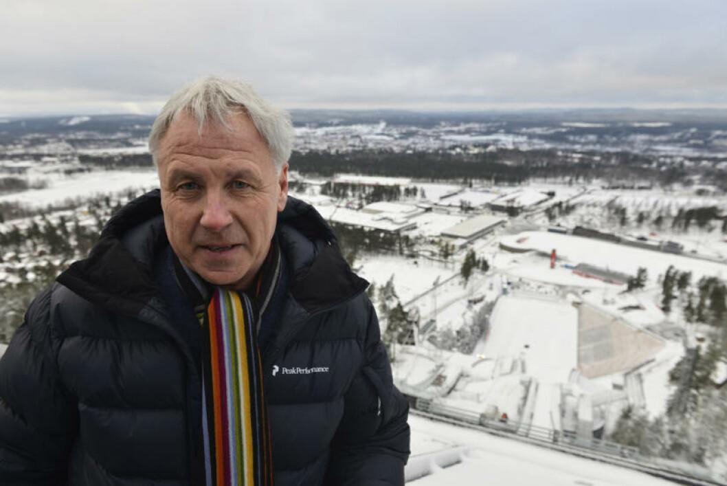 <strong>STOLT:</strong> Tomas Andersson er arrangementsansvarlig i sportssenteret Lugnet og med rette stolt over VM-arenaen. Foto: GJERMUND GLESNES