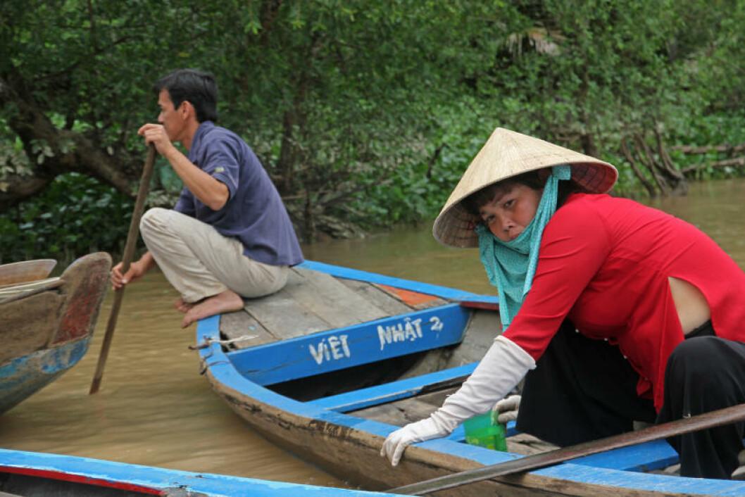 MEKONG: Elva står i sentrum for landbruk og sosialisering, og en reise i det som spøkefullt kalles for «Vietnams risbolle» byr på utallige inntrykk. Foto: RUNAR LARSEN