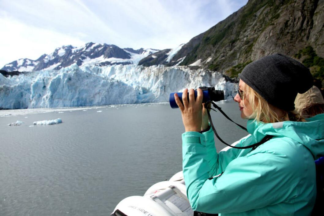 <strong>ISBRE:</strong> På dagscruise fra Whittier kommer du tett på de mektige isbreene i fjordområdene i Prins William-sundet. Isbreene vokser og krymper med årstidene, og om sommeren er det vanlig å oppleve «kalving». Foto: RUNAR LARSEN