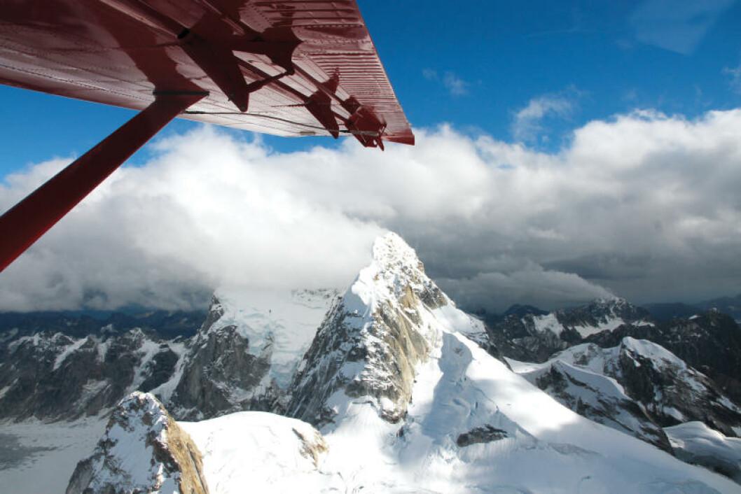 <strong>PANORAMAUTSIKT:</strong> Det tar flere uker å komme til toppen av Mount McKinley - 6194 meter over havet, men med «flightseeing» ser du hele fjellet på en time. Foto: RUNAR LARSEN