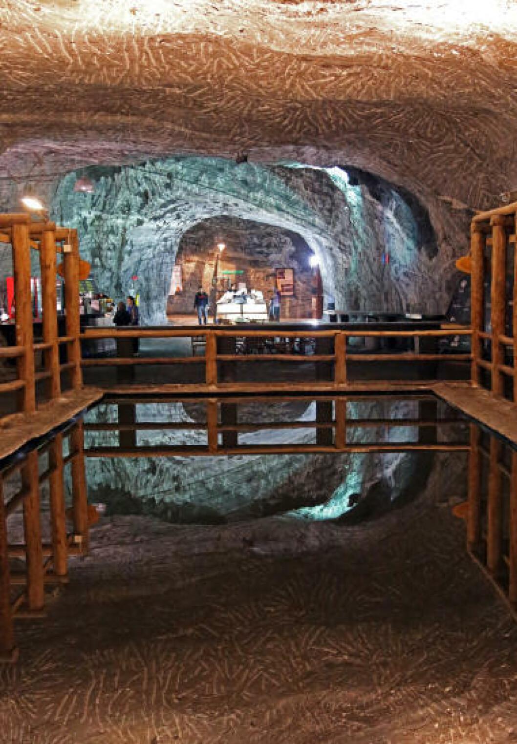 <strong>STORT:</strong> Den gamle saltgruven er oppgradert med en rekke store rom. Foto: EIVIND PEDERSEN