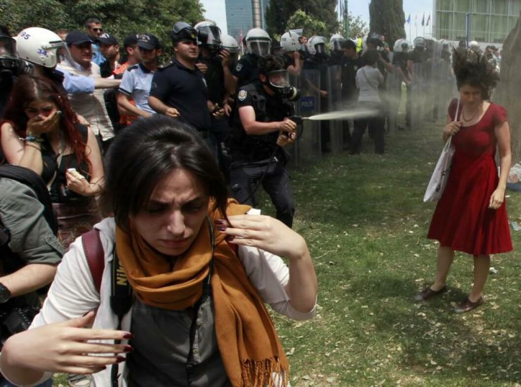 <strong>DYNKET:</strong> Ceyda Sungur. Foto: Osman Orsal / Reuters / NTB Scanpix