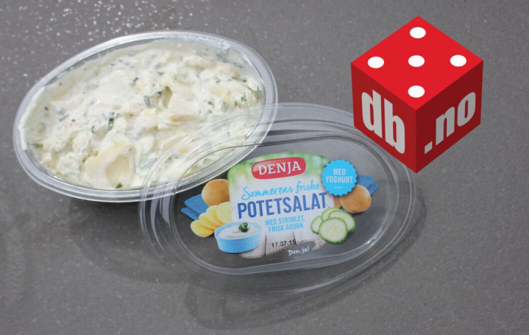 <strong>FRISK:</strong> Potetsalat møter tzatziki - et friskt og godt alternativ til den klassiske potetsalaten. Foto: ELISABETH DALSEG