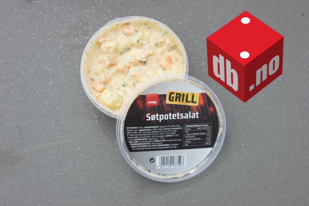 <strong>SUPPETE:</strong> Også i søtpotetsalaten ble fettsmaken for påtrengende. Foto: ELISABETH DALSEG
