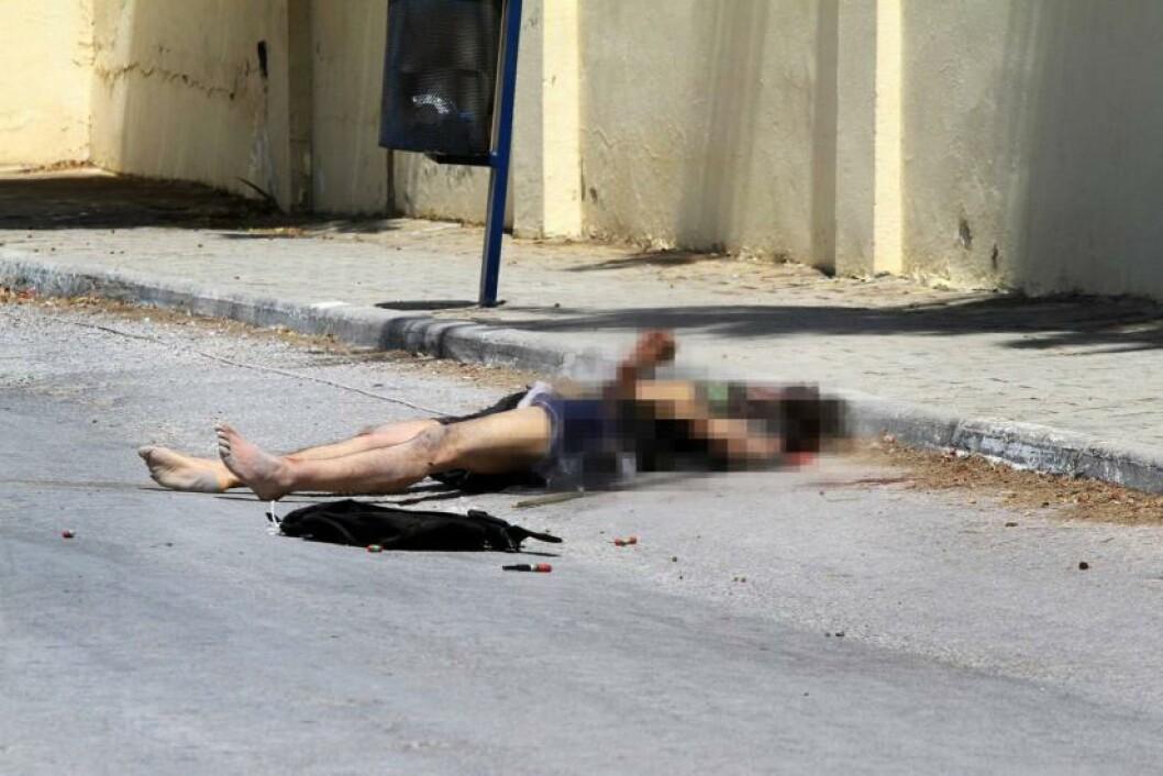 <strong>DREPT:</strong> Rezgui tok 39 menneskeliv og skadde nesten like mange, før han selv ble skutt og drept. Foto: AFP / NTB Scanpix