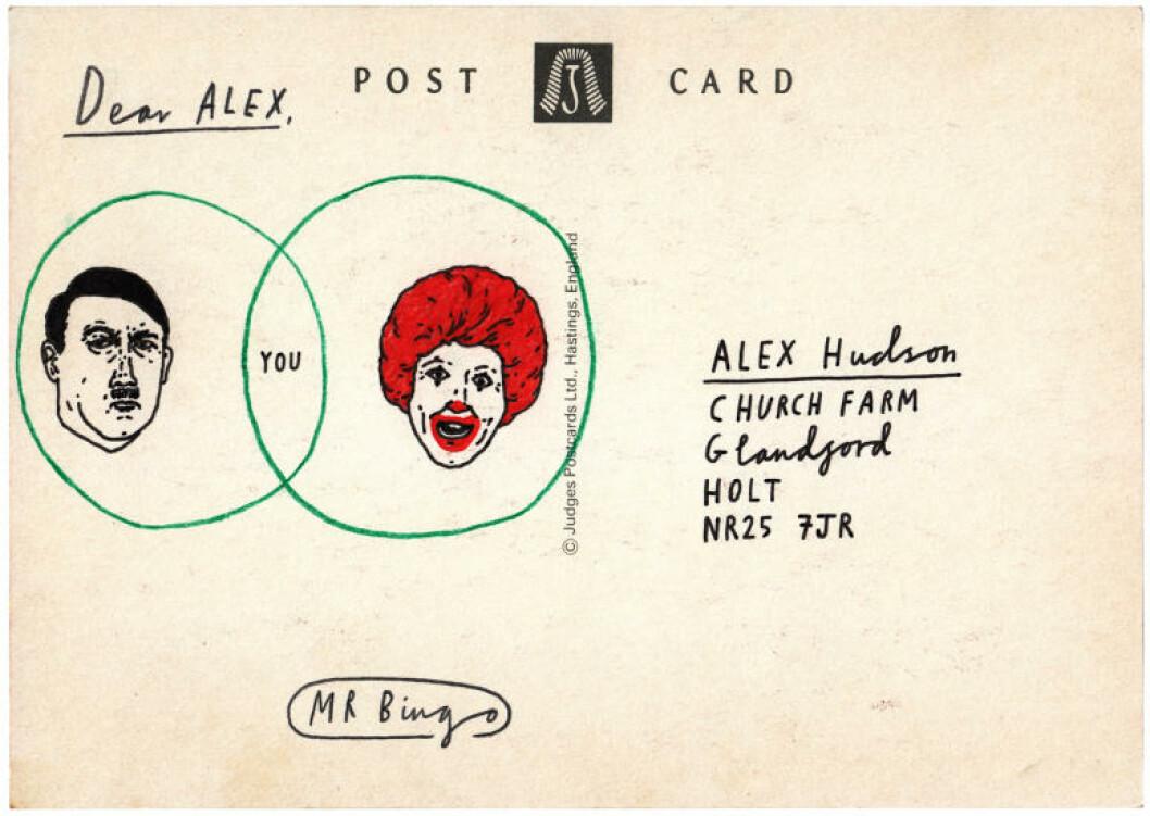 <strong>MELLOM HITLER OG RONALD MCDONALD:</strong> Alle kortene fornærmer på forskjellige måter. Foto: Privat
