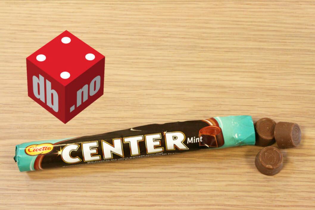 CLOETTA: CENTER MINT: Det dekadente fyllet slo ihjel melkesjokoladetrekket, men det kan vi tilgi. Foto: MERETHE HOMMELSGÅRD