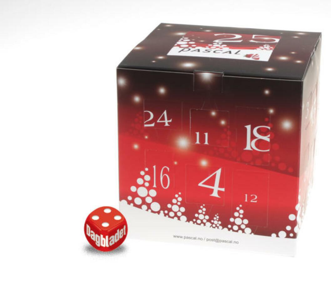 <strong>BONUSDAG:</strong> Den er litt klumpete, men her får du gaver til og med 25 desember, og det er sjokoladesmaker å bli glad av her. Foto: ELISABETH DALSEG