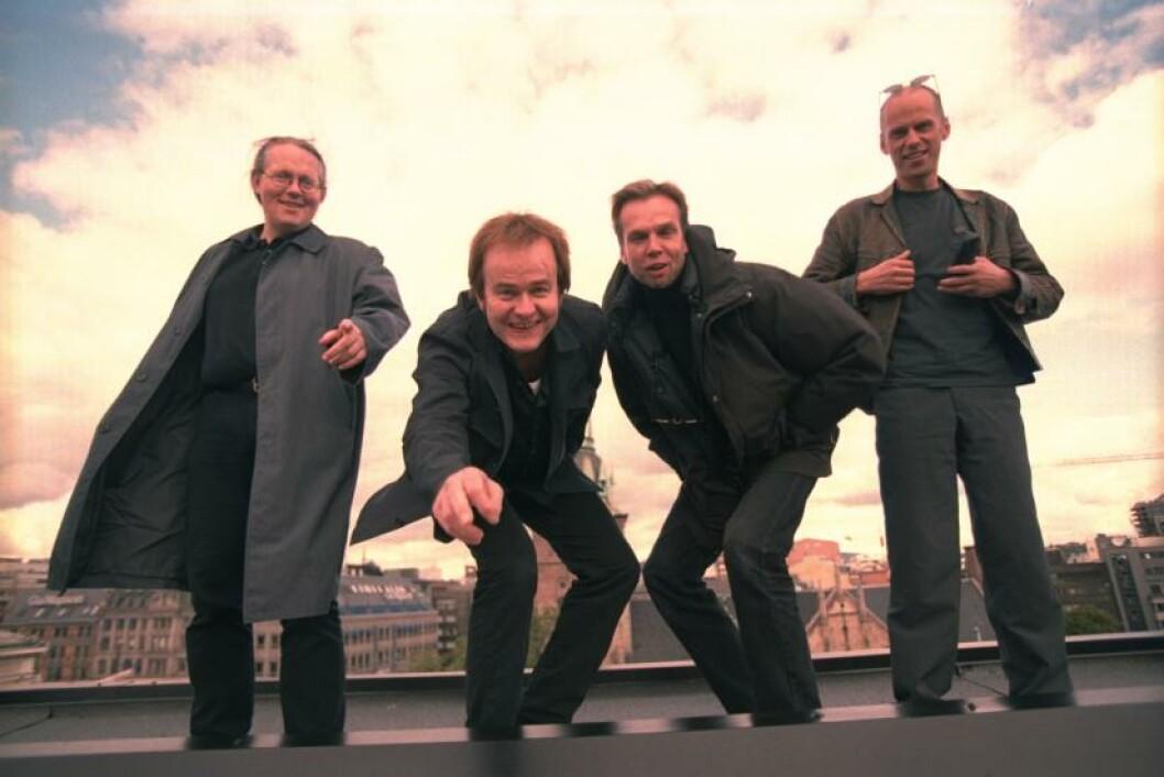 <strong>THE ALLER VÆRSTE:</strong> Nominert til Rockheim Hall of Fame 2016, The Aller Værste, f.v. Lasse Myrvold, Sverre Knudsen, Ketil Kern og Chris Erichsen.  Harald Øhrn var ikke tilstede. Foto: NTB Scanpix