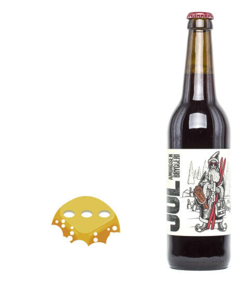 Amundsen Jól, 0,5 l flaske, 6%. Dette ølet passer best for seg, et drikkeøl.