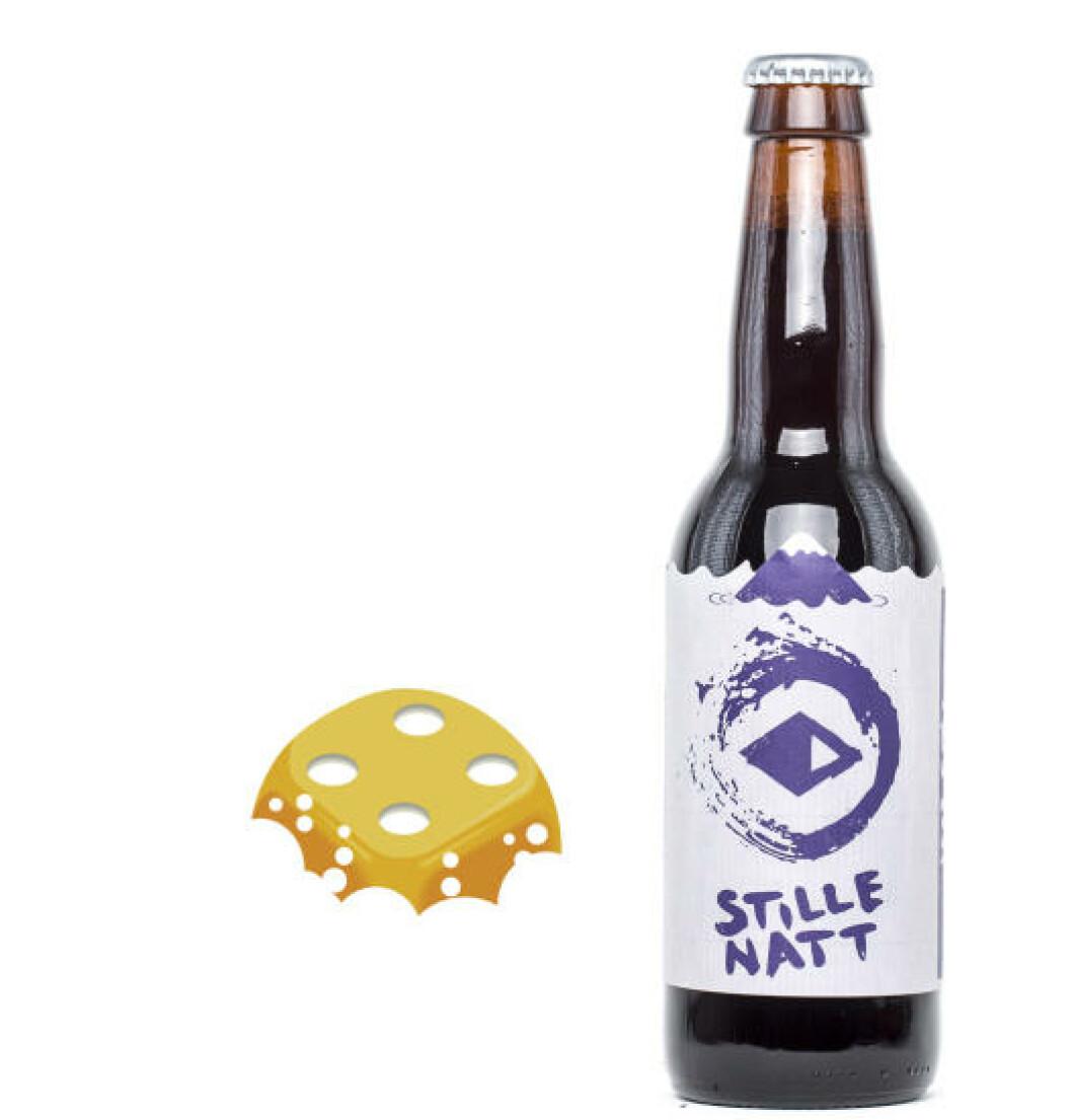 Austmann Stille Natt, 0,33 l flaske, 9%. Passer godt til julekaker.