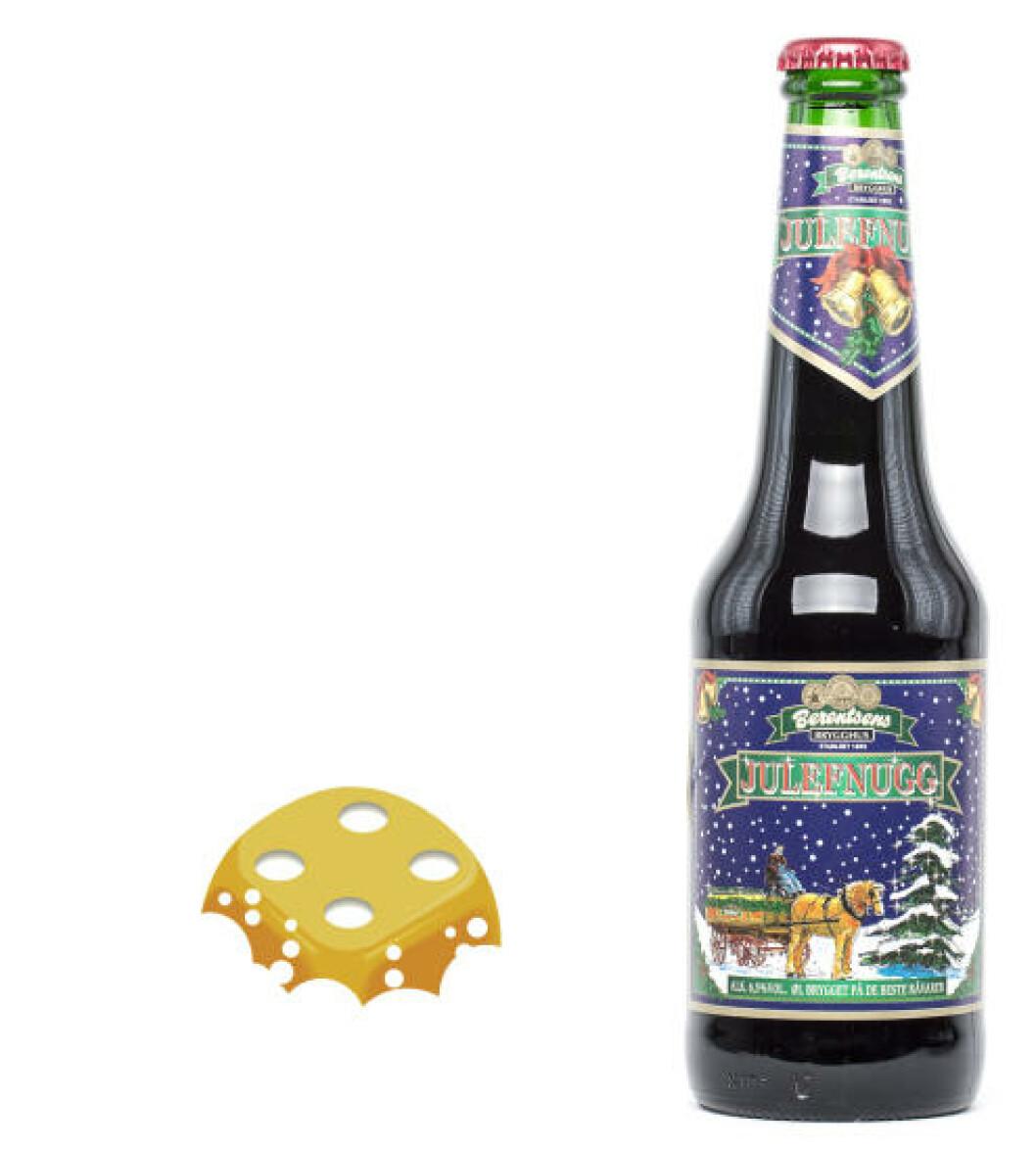 Berentsen Julefnugg, 0,33 l, flaske, 6,5%. Passer til desserter, men ikke krembaserte retter.