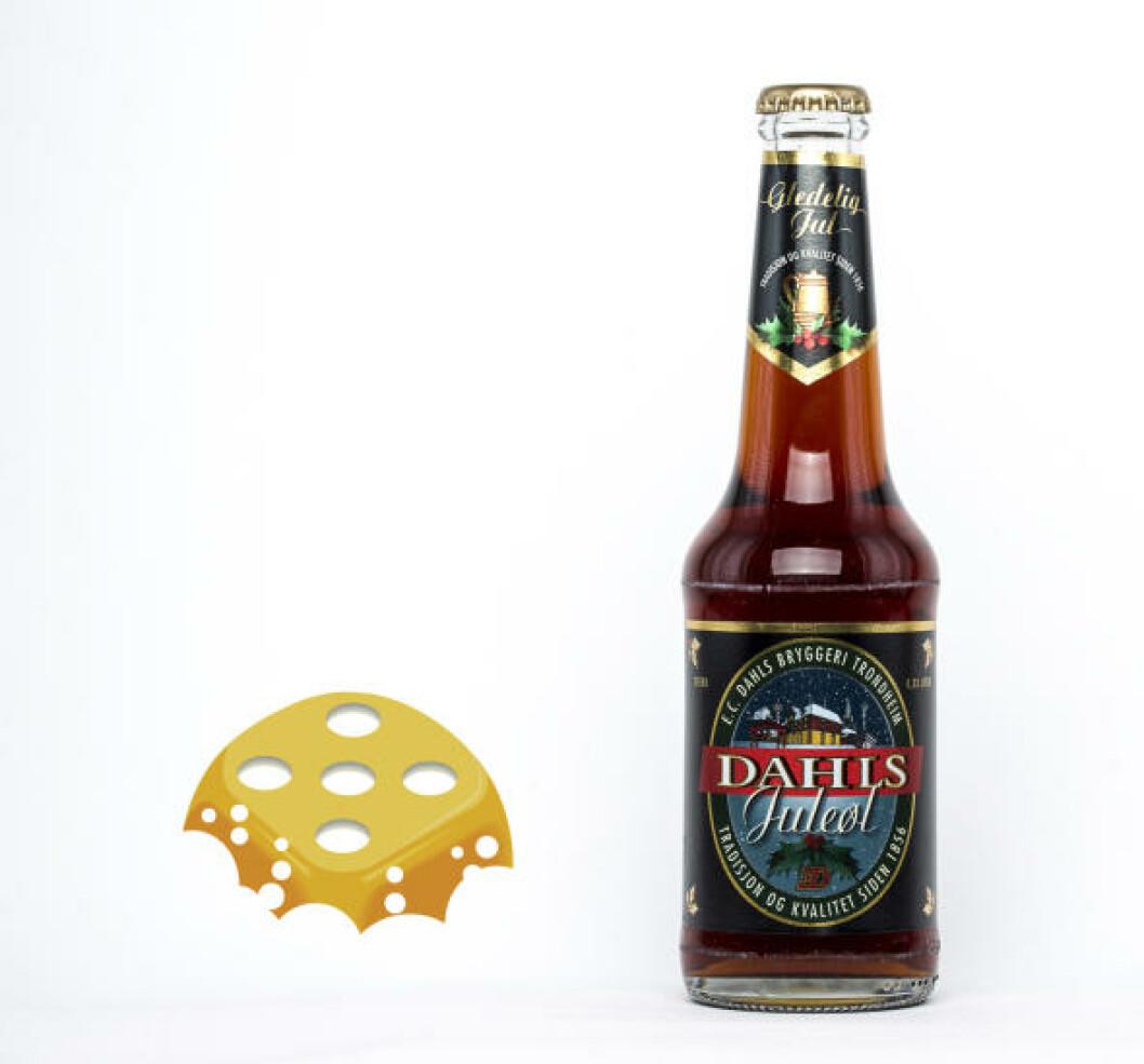 Dahls Juleøl, 0,33 l flaske, 6 %. Lett, med lite bitterhet.