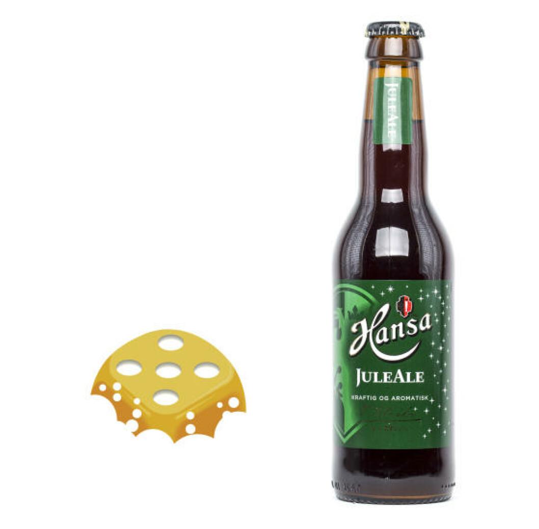 Hansa Juleale, 0,33 l flaske, 7,8 %. Som en fruktig julebelgier.