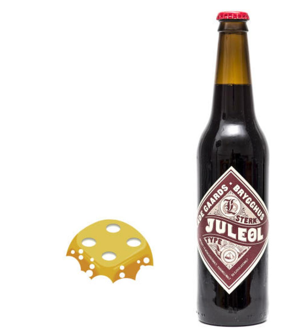 Ladegaards Brygghus Sterk juleøl, 0,5 l flaske, 6,5%. Server til julekaker eller annen søt mat.